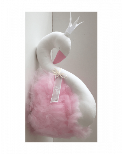 Ilka Design Wall Bust White Swan Pink Tyl