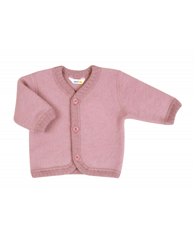 Uld Cardigan Old Rose