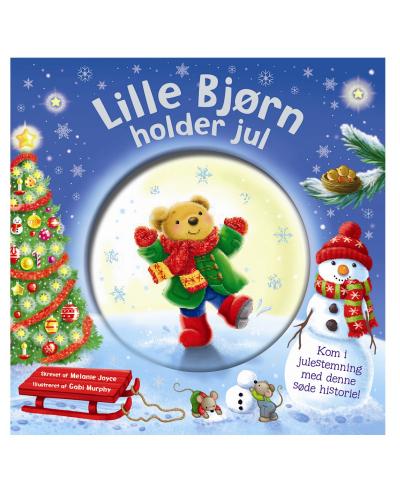 Lille bjørn holder jul (billedbog med snekugle på forsiden)