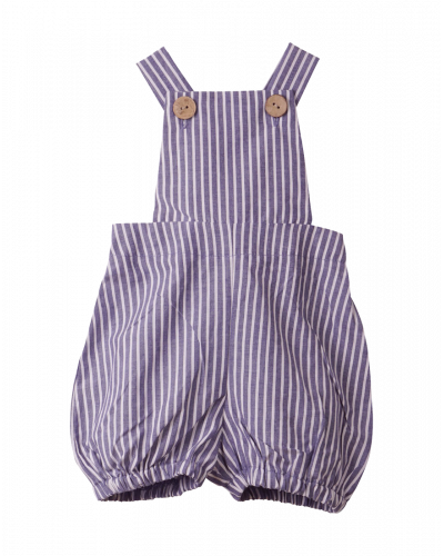 Overall Shorts Blue Stripe