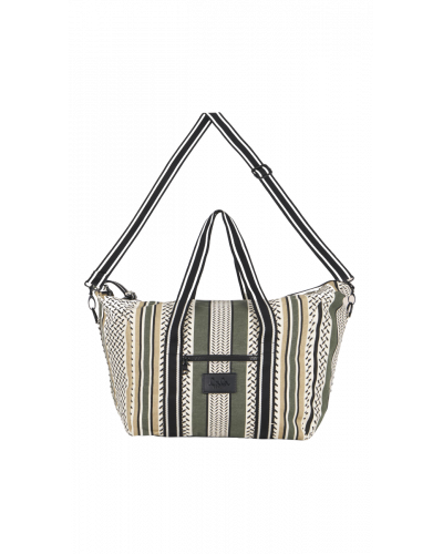 Big Bag Muriel Colored Olive And Warm Sand