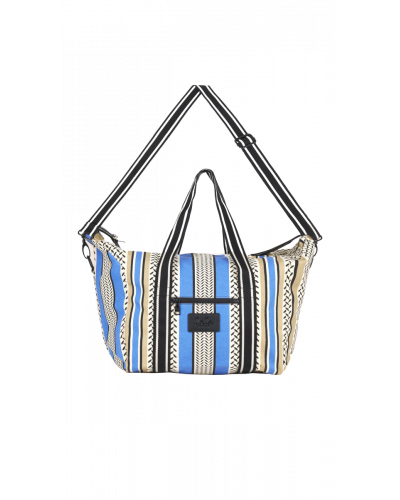 Big Bag Muriel Colored Palace Blue And Warm Sand