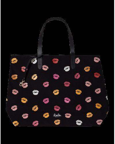 Big Canvas Shopper Multi Lips
