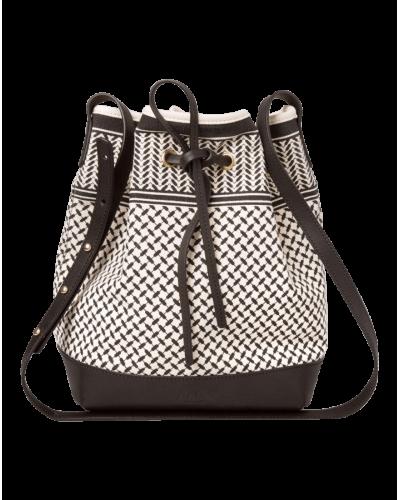 Lala Berlin Bucket Bag Kufiya/Offwhite