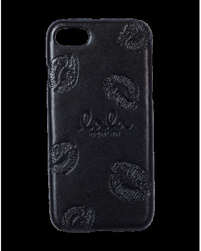 Lala Berlin Iphone Cover Kisses Black