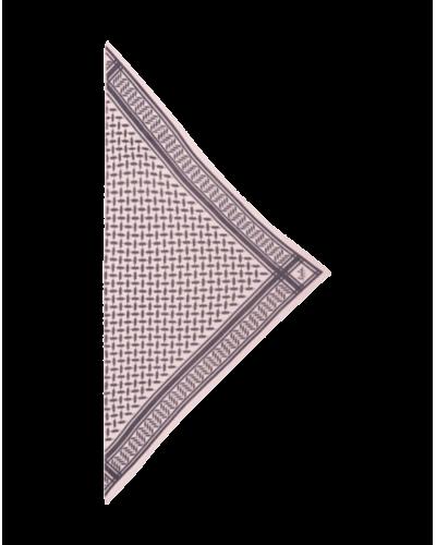 Lala Berlin Tørklæde Triangle XS Grey Candy/Rose