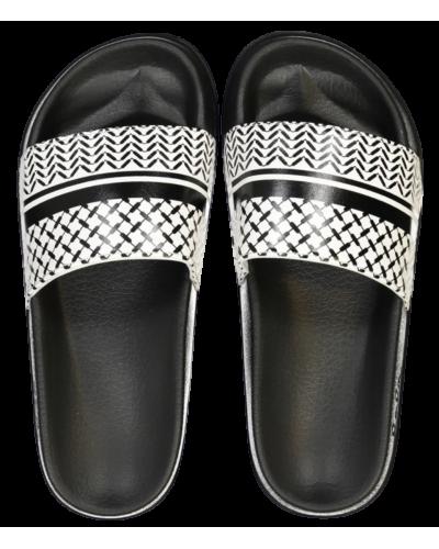 Slippers Ariella sort/hvid