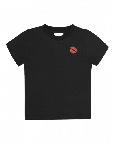 Lala Berlin T-shirt Cara Lips Sort