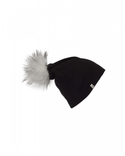 Léhof Beanie Fake Fur Black