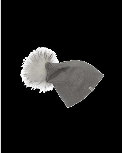 Beanie Fake Fur Light Grey