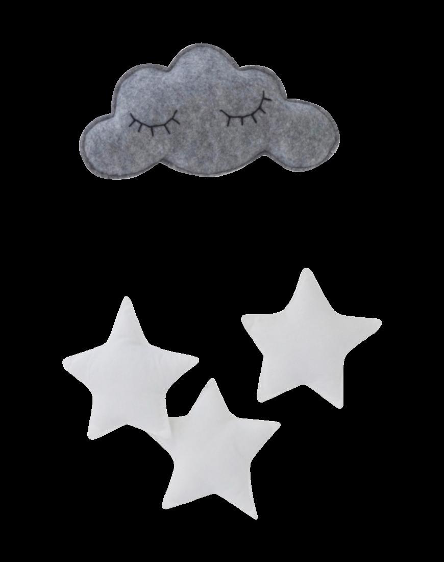 Stjerne Uro Grå/hvid