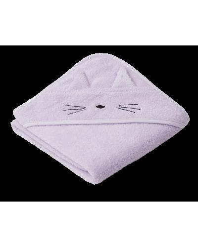 Albert Baby Badehåndklæde Kat Light Lavender