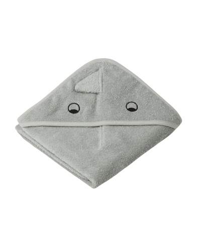 Albert Baby Badehåndklæde Dino Dove Blue Mix