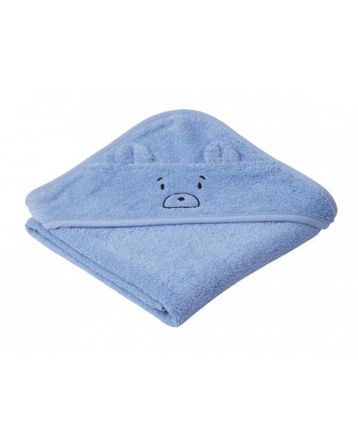 Albert Baby Badehåndklæde Mr Bear Sky Blue