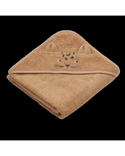 Albert Baby Badehåndklæde Leopard Apricot