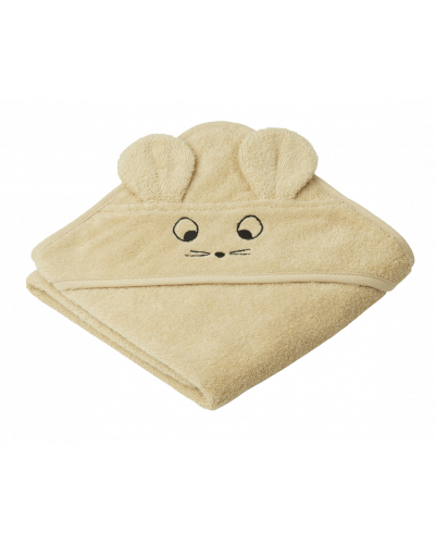 Albert Baby Badehåndklæde Mus Wheat Yellow