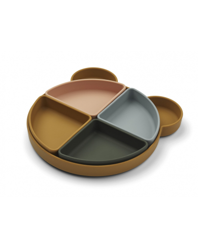 Arne Divider Plate Mr Bear Golden Caramel Multi Mix
