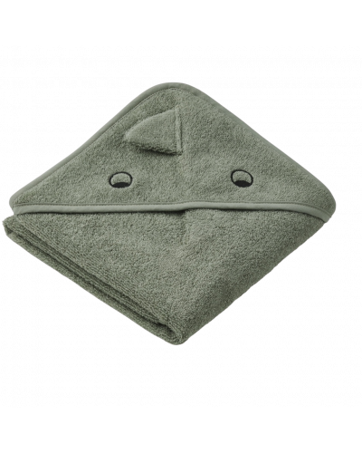 Albert Baby Badehåndklæde Dino Faune Green
