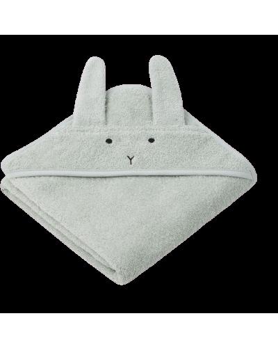 Baby Badehåndklæde Rabbit Dusty Mint