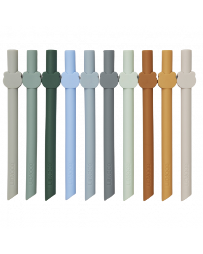 Badu Sugerør 10-pak Blue wave multi mix