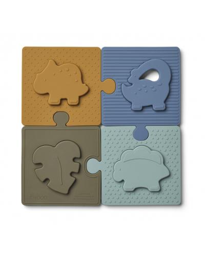 Bodil Puzzle Dino Blue Multi Mix