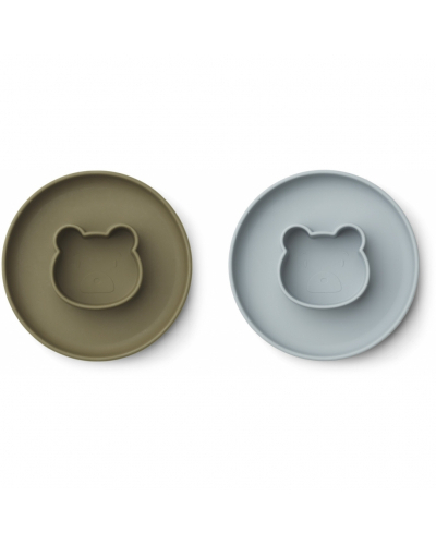 Gordon Plate 2 Pack Mr Bear Blue Fog / Khaki Mix