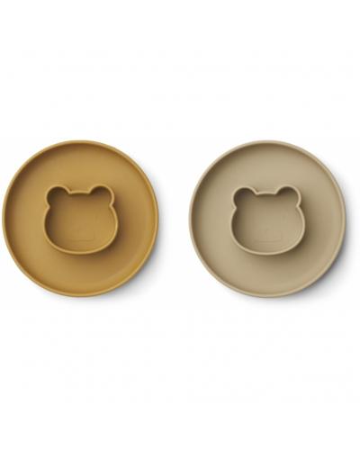 Gordon Plate 2 Pack Mr Bear Golden Caramel/Oat Mix