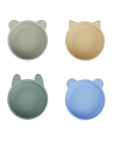 Iggy Silicone Skåle 4-pack Peppermint Multi Mix
