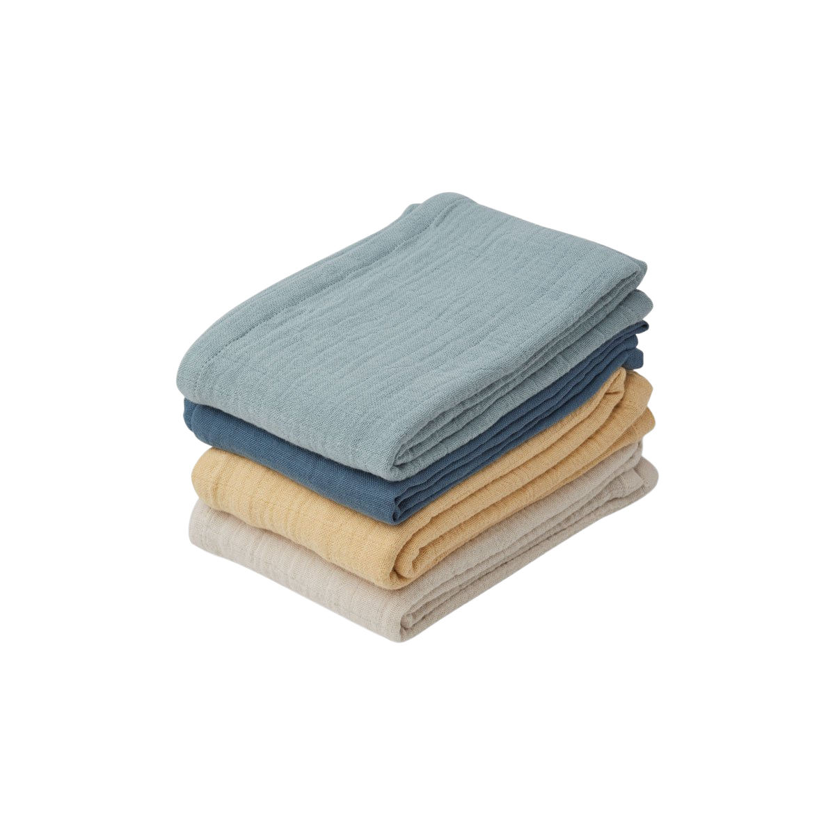 Leon Muslin Cloth - 4 pack  Blue mix