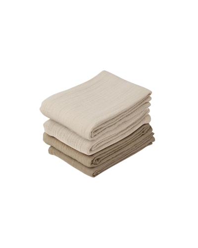 Leon Muslin Cloth - 4 Pack Natural/Sandy Mix