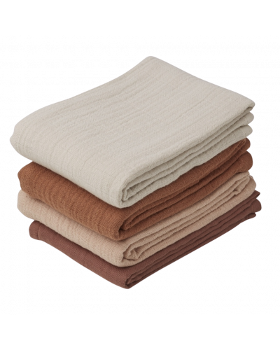 Leon Muslin Cloth - 4 Pack Rose Mix