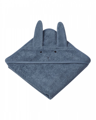 Liewood Baby Badehåndklæde Kanin Blå