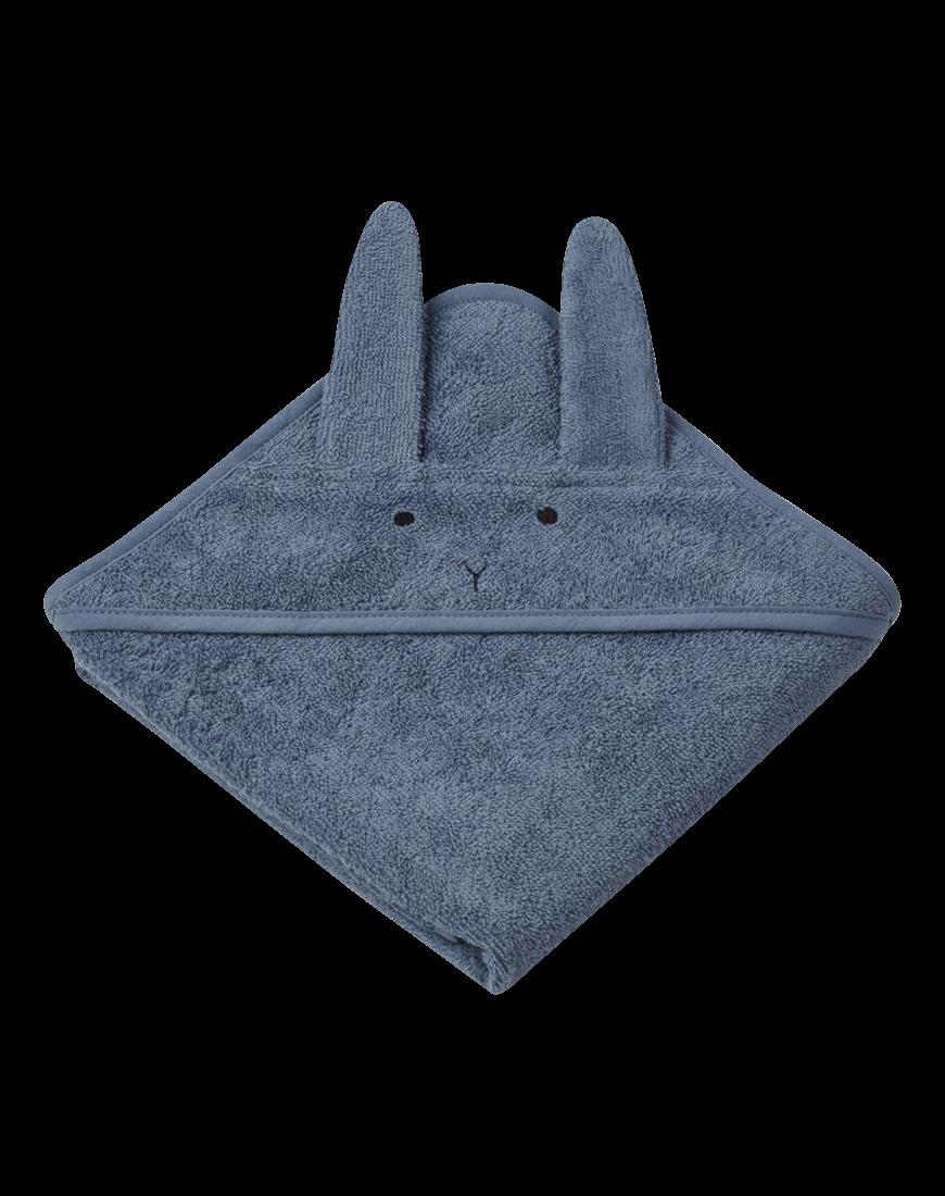 Baby Badehåndklæde Kanin Blå