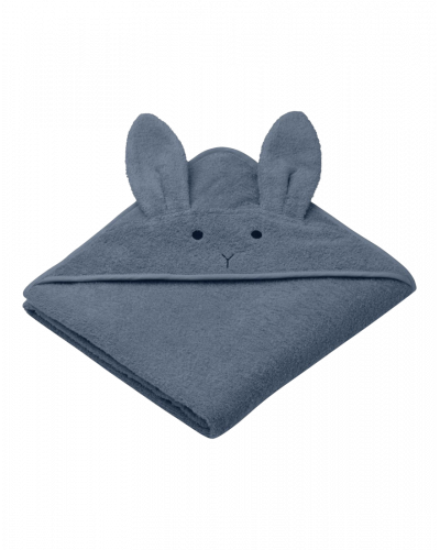 Liewood Badehåndklæde Junior Kanin Blå