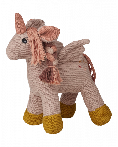 Unicorn Strikket Bamse Sorbet Rose