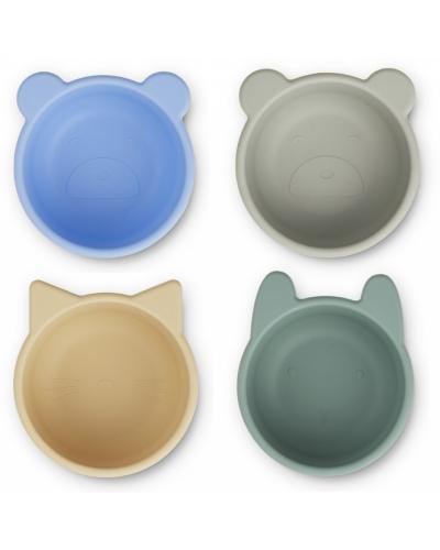 Malene Silicone Skåle 4-pack Peppermint Multi Mix