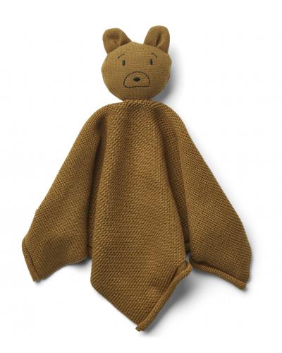 Milo knit cuddle cloth Mr bear golden caramel