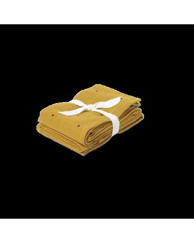 Stofble Hannah 2 Pack Classic Dot Mustard