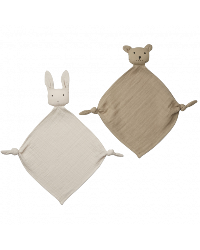 Yoko Mini Nusseklud 2-pak Sandy/Stone Beige