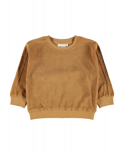 Evald LS Oversized Sweatshirt Tobacco Brown
