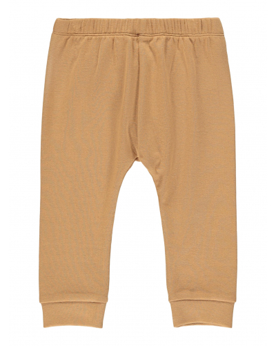 Geo Loose Pants Solid Tobacco Brown