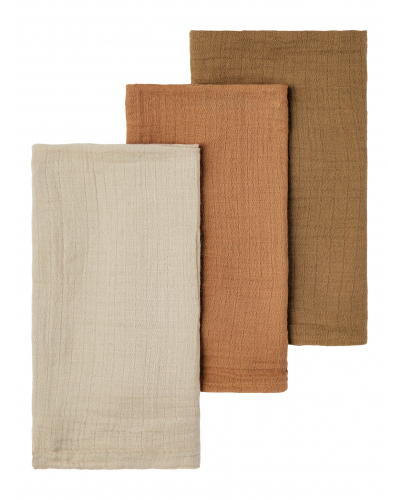 Isley 3 Pack Nappies Tobacco Brown