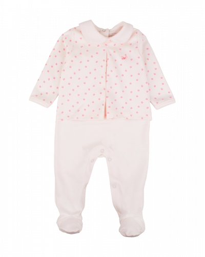 Livly Florals Trudy Footie Pink