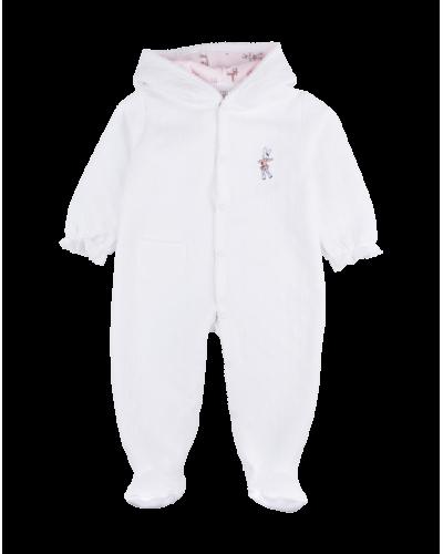 Heldragt m. Hætte White/Ice Skater Bunny