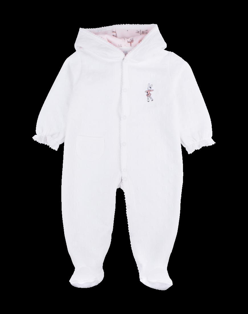 Livly Heldragt m. Hætte White/Ice Skater Bunny