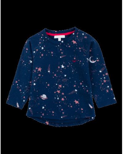 Langærmet T-shirt Outer Space
