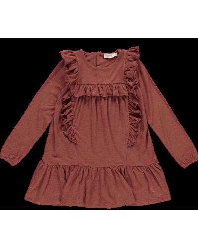 Kjole Drea Lurex Melange, Cranberry Shimmer