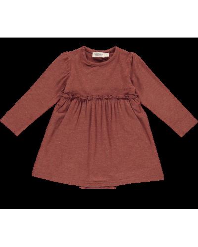 Kjole Ramona Lurex Melange, Cranberry Shimmer
