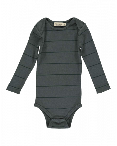 MarMar Ben Modal Body Dark Leaf Stripe