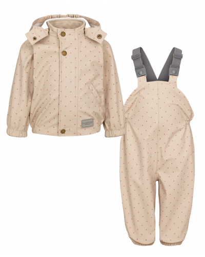 Oddy Rainwear Set Rose Blush Dotty